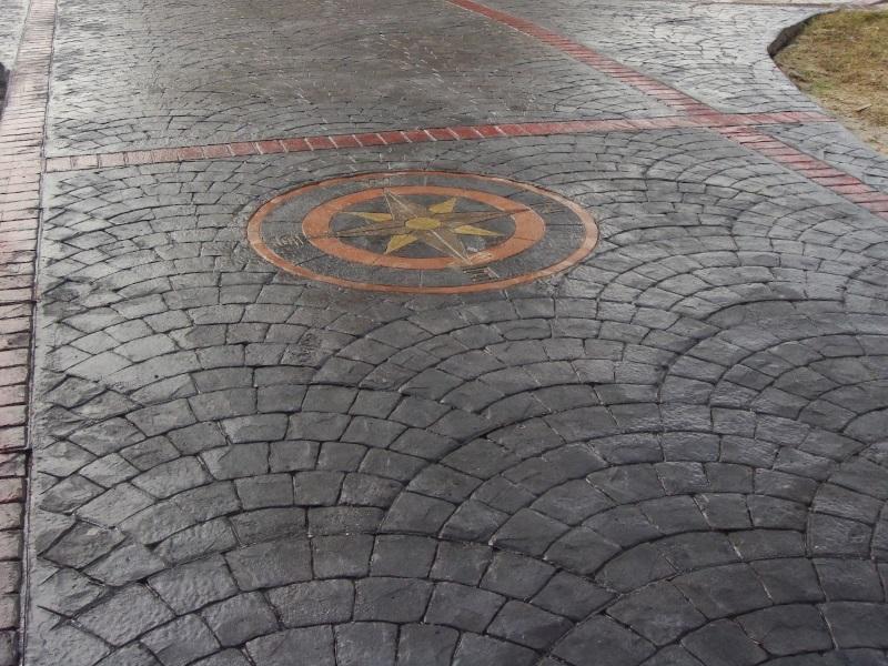 Печатный бетон минусы заказать алмазную коронку по бетону